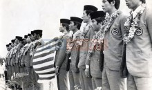 Malaysias National Football Team after Qualifying for the 1972 Munich Olympic Games Oct 9 1971